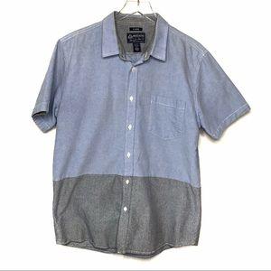 American Rag Short Sleeve Shirt Blue Size XL